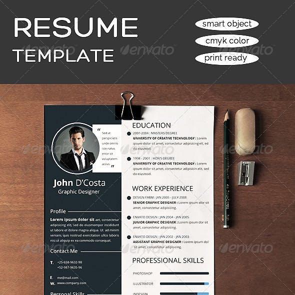 Simple & Clean Resume CV