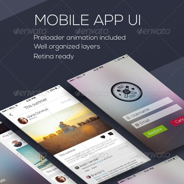 Mobile Phone OS8 Style App UI Kit