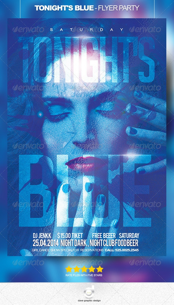 Tonight is Blue - Flyer Party - Clubs & Parties Events