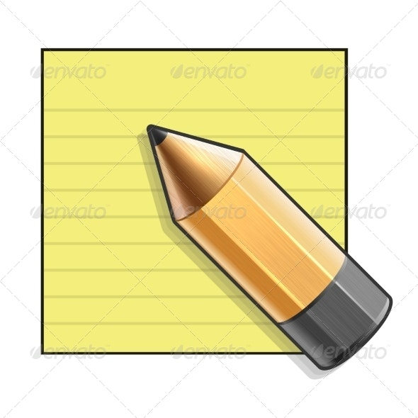 Yellow Paper and Pencil - Miscellaneous Conceptual