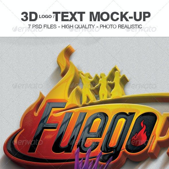 3d Logo/Text Mock-Up V2