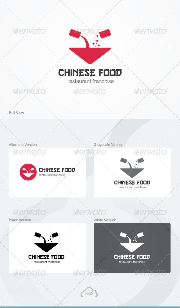 Chinese Food Logo Template - Food Logo Templates