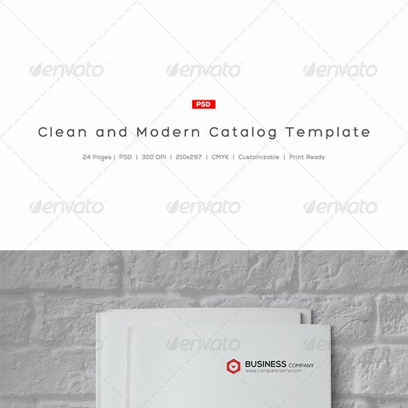 Clean and Modern Catalog Template