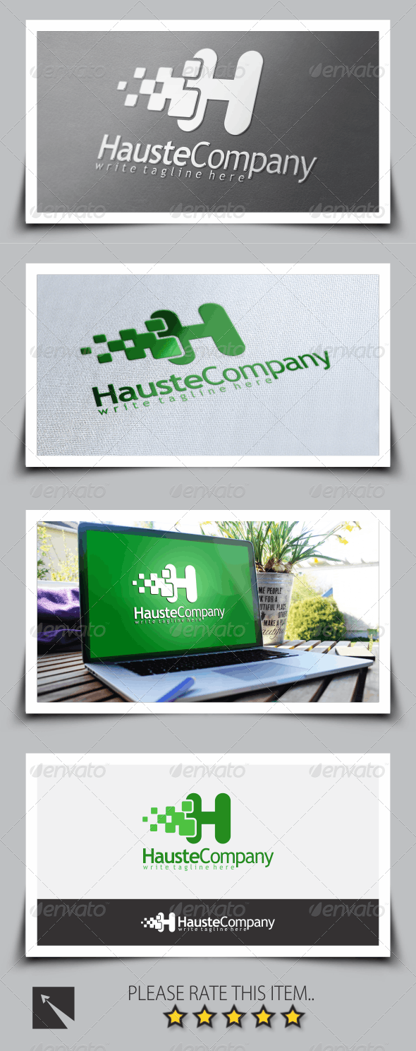 Letter (H) Logo Template - Letters Logo Templates
