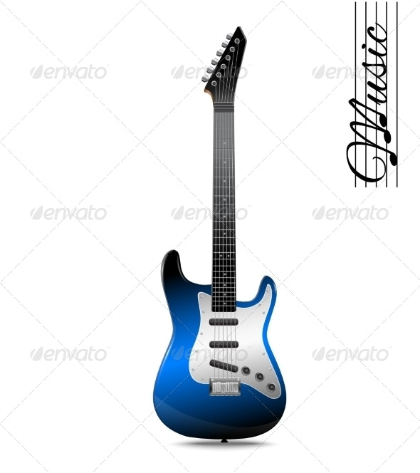 Electric Guitar Isolated - Miscellaneous Vectors