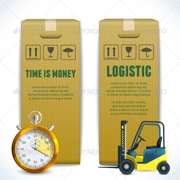 Logistic Vertical Banners - Industries Business
