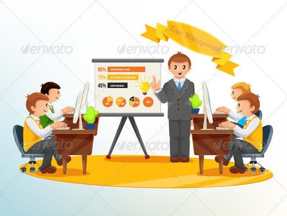Team Management Illustration - Business Conceptual