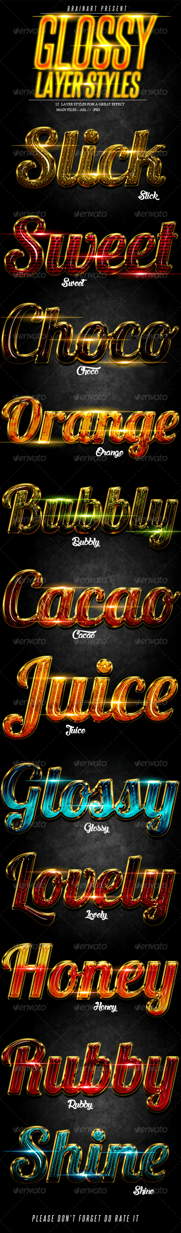 Glossy Layer Styles Vol.1 - Text Effects Styles