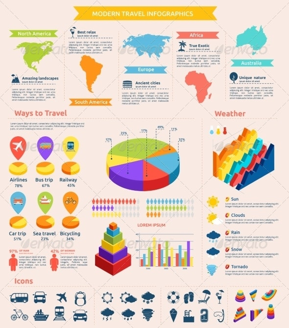Travel Flat Infographics