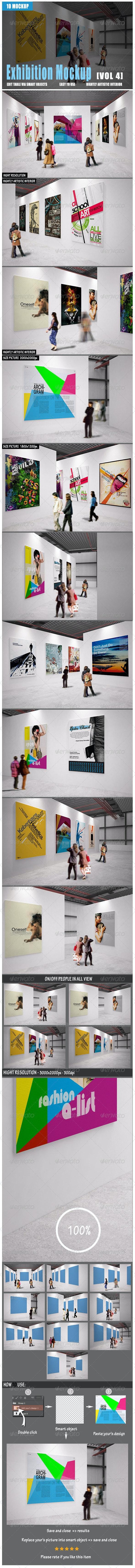 Exhibition Mockup [vol 4] - Posters Print