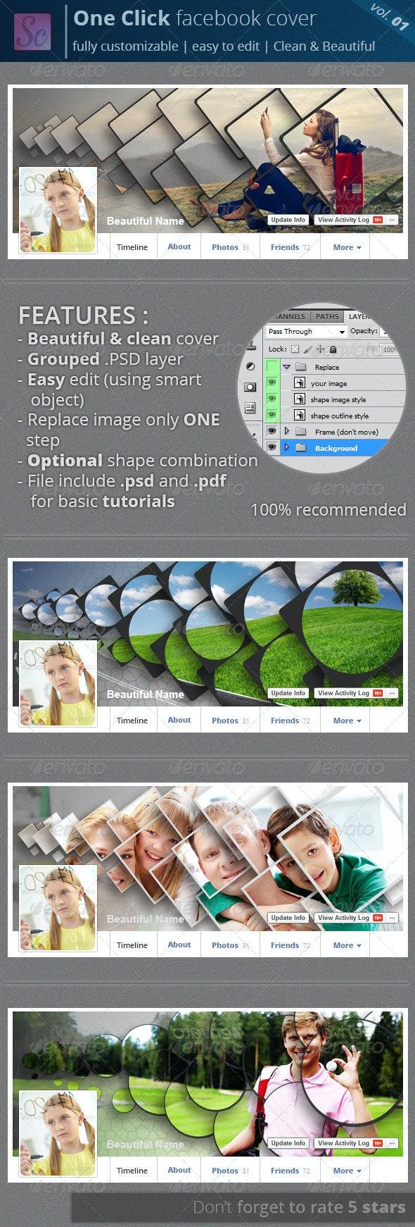 One Click Facebook Cover Vol.01 - Facebook Timeline Covers Social Media