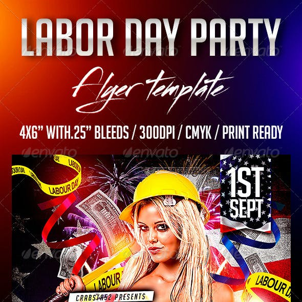 Labour Day Party Flyer Template