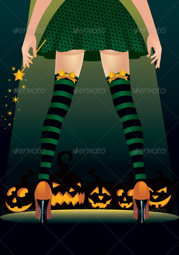 Witch Stripper - Halloween Seasons/Holidays