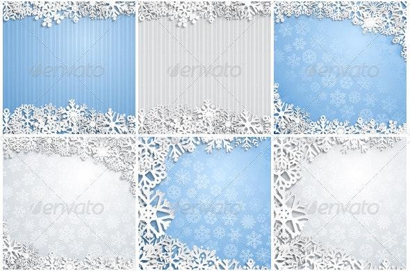 Christmas Backgrounds of Snowflakes - Christmas Seasons/Holidays