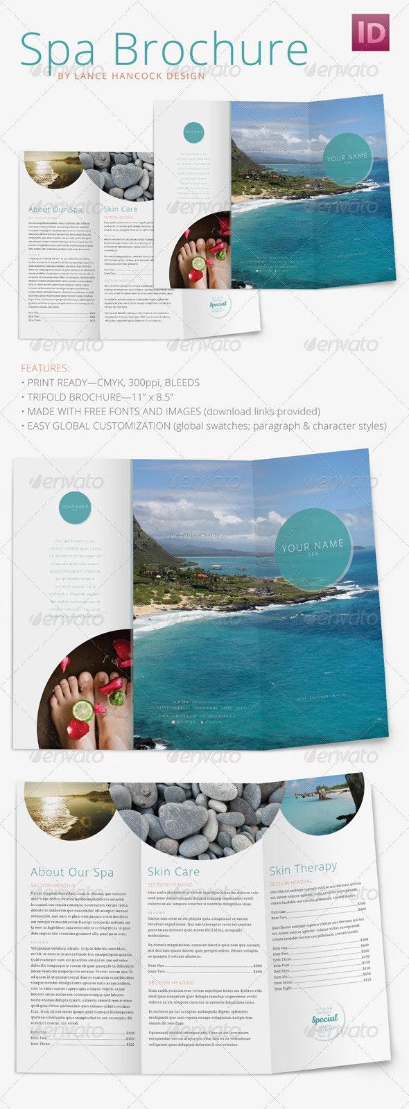 Spa/Wellness Brochure - Trifold - Corporate Brochures