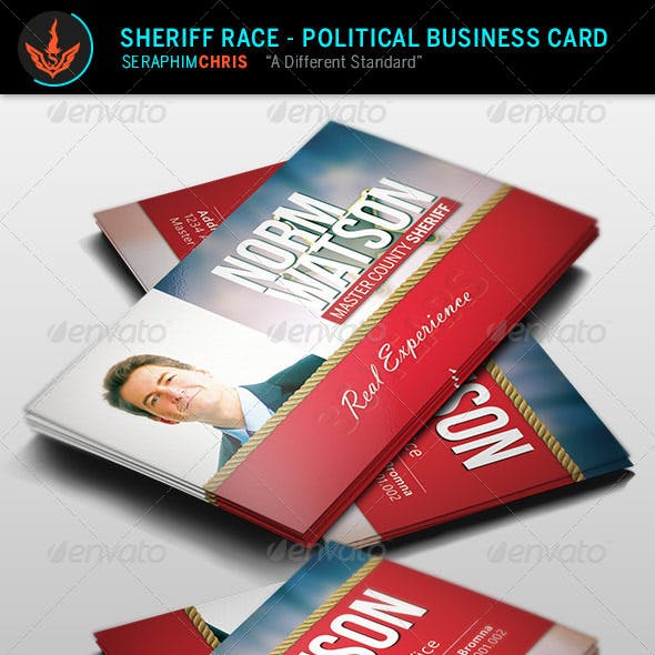Sheriff Race -  Political Business Card Template