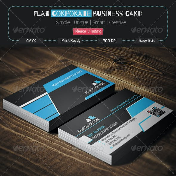 Flat Corporate Business Card