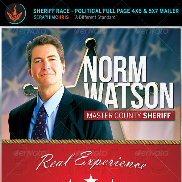 Sheriff Race: Political Flyer and Mailer Template