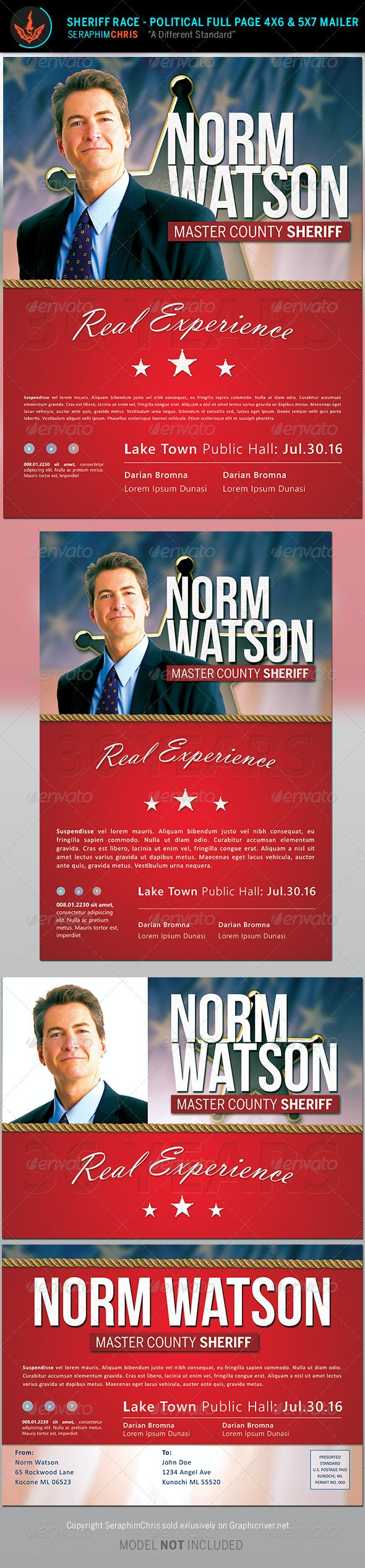 Sheriff Race: Political Flyer and Mailer Template - Corporate Flyers