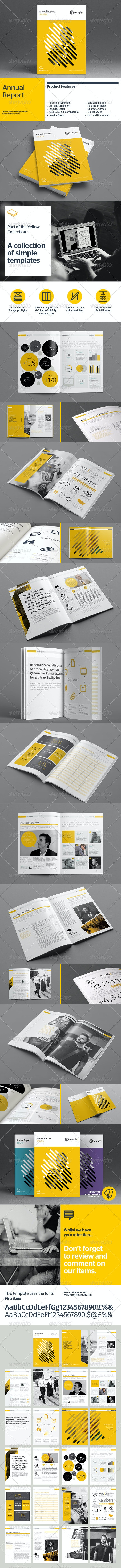 Annual Report Template - Corporate Brochures