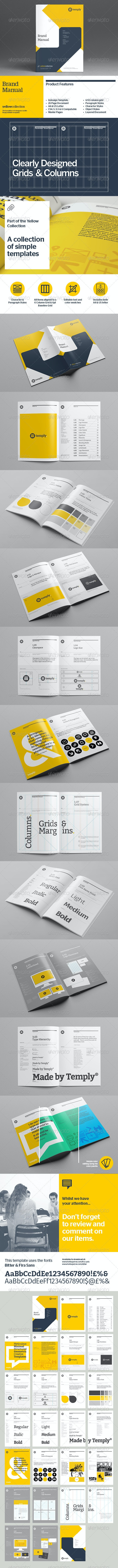 Brand Manual Template - Corporate Brochures