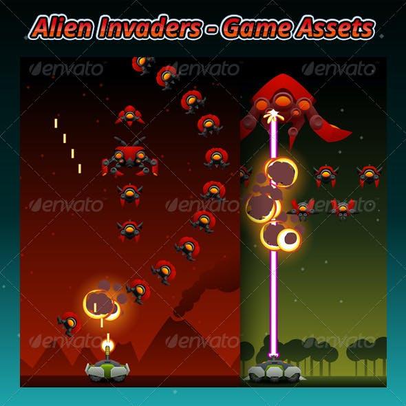 Alien Invaders Game Assets