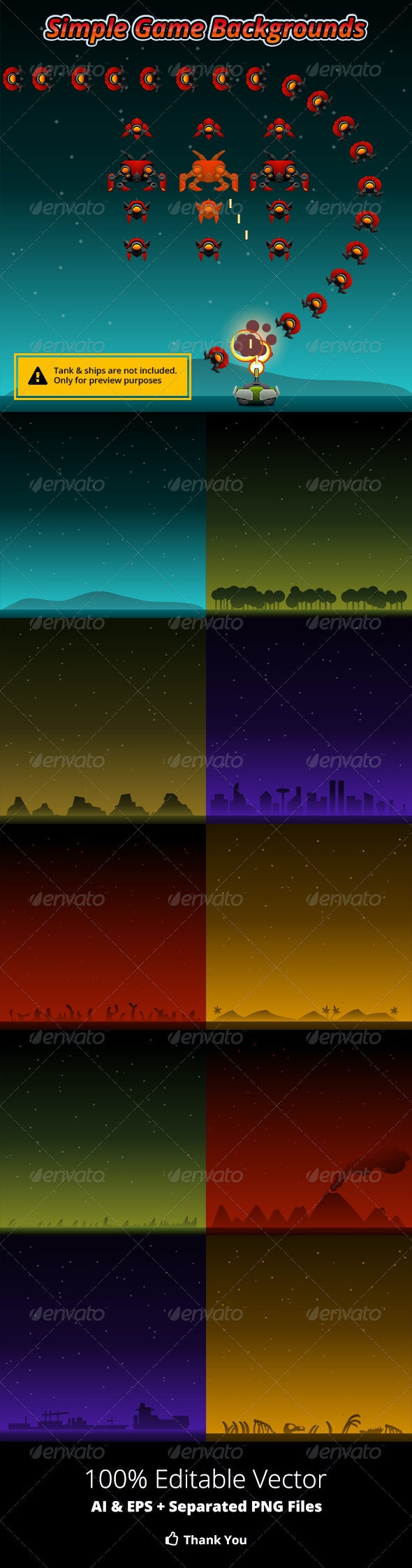 Simple Game Backgrounds - Backgrounds Decorative