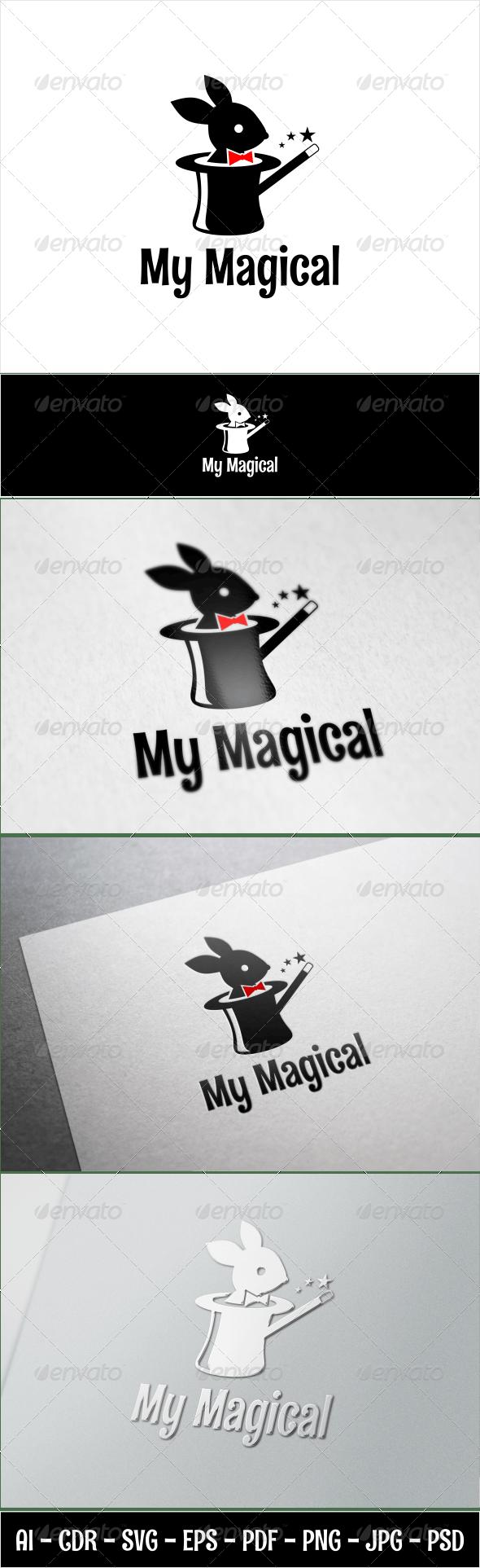 My Magical Rabbit - Animals Logo Templates