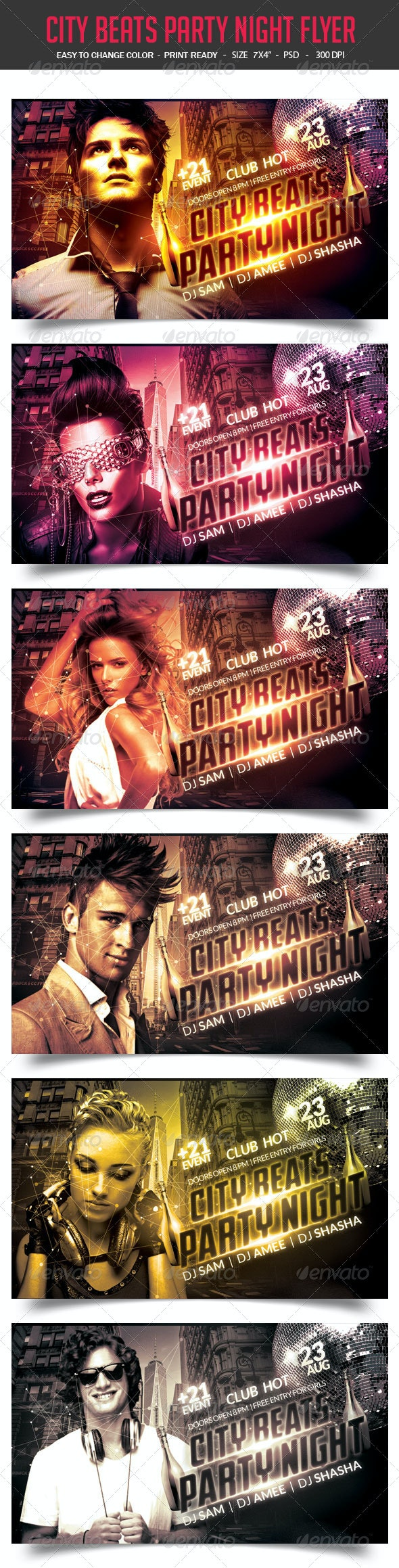 City Beats Party Night Flyer - Clubs & Parties Events
