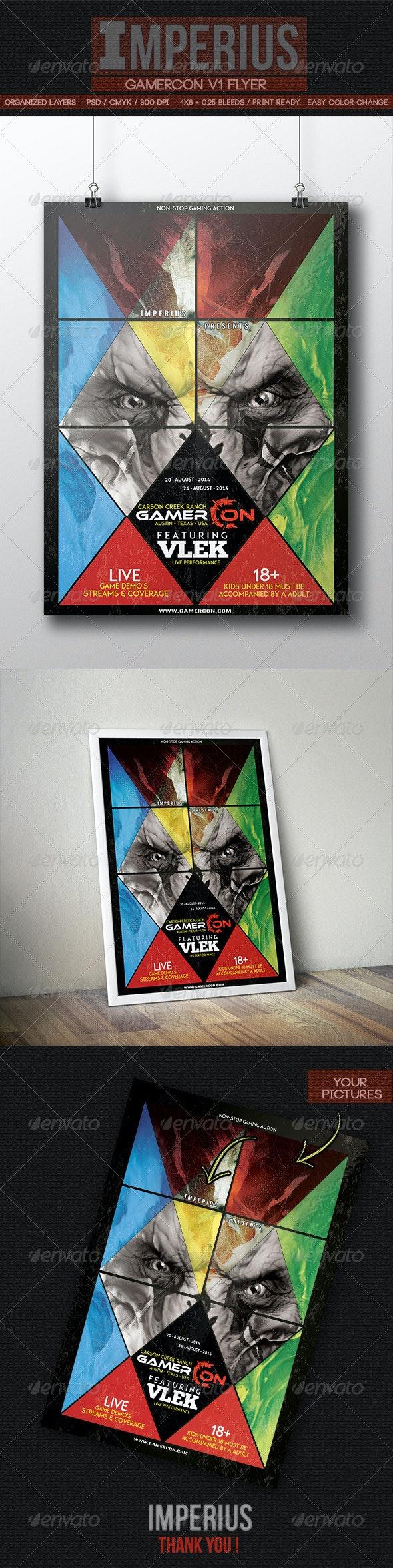 GamerCon V1 - Flyers Print Templates