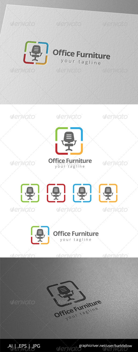Office Chair Furniture Logo - Objects Logo Templates