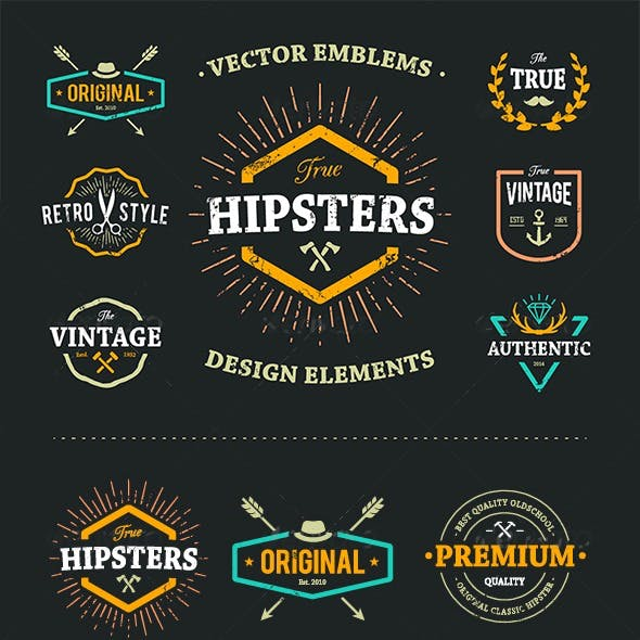 True Hipster Vector Set