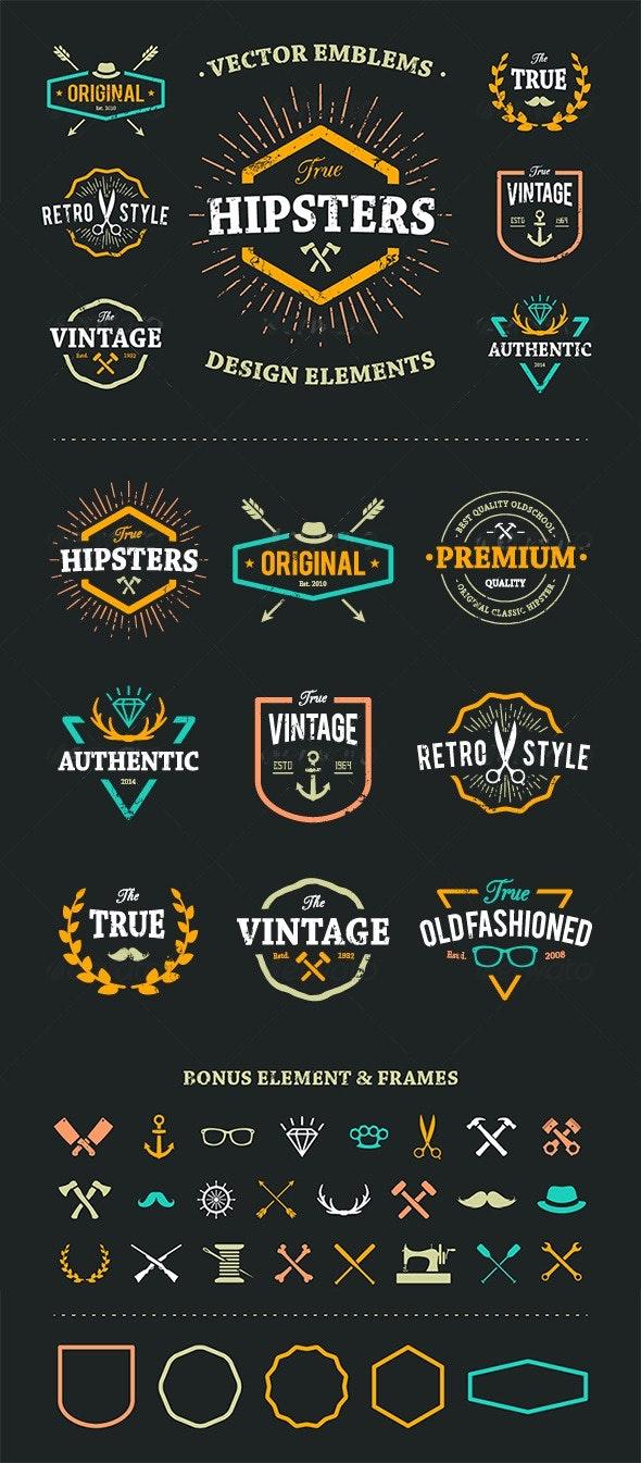True Hipster Vector Set - Vectors