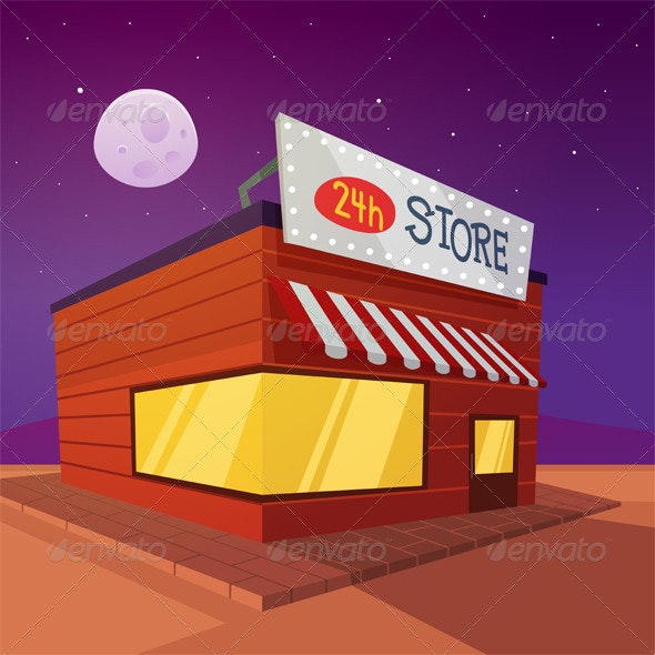 Cartoon Store - Commercial / Shopping Conceptual