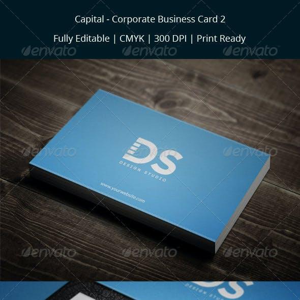 Capital - Corporate Business Card 2