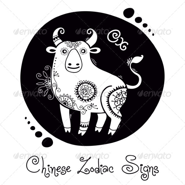 Ox Chinese Zodiac Sign - Animals Characters