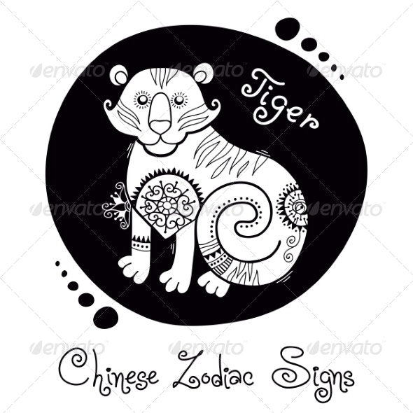Tiger Chinese Zodiac Sign - Animals Characters