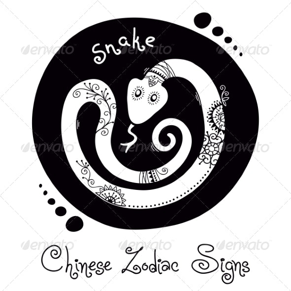 Snake Chinese Zodiac Sign - Animals Characters