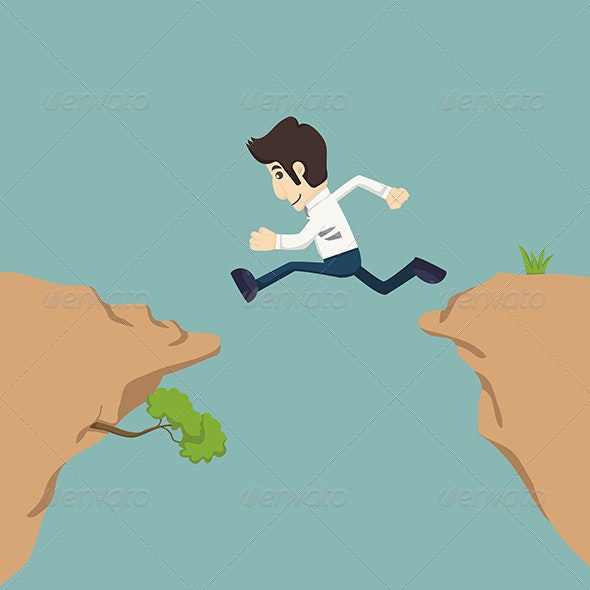 Businessman Jumping  - Concepts Business