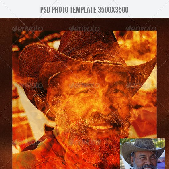 Fire Photo Template