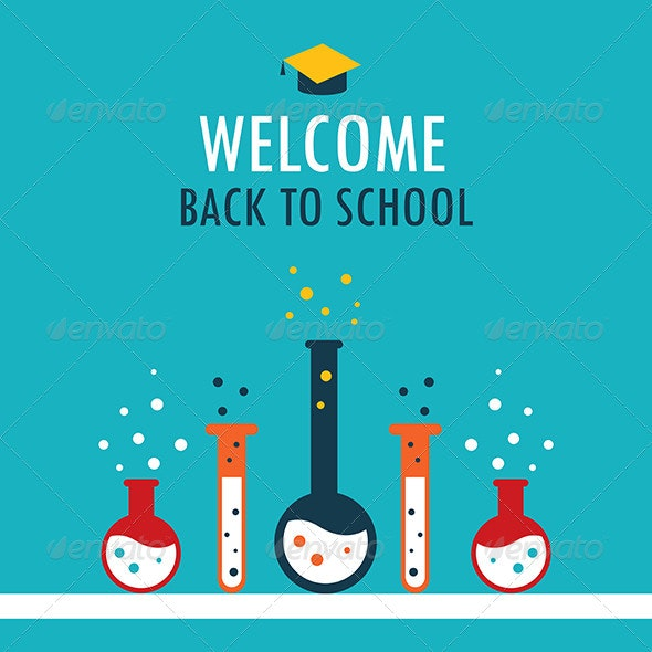 Back to School Design Template - Backgrounds Decorative