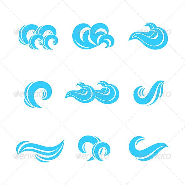 Wave Icons Set