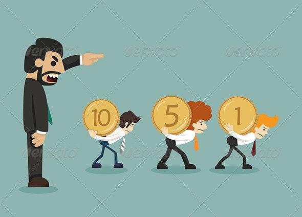 Businessman Hard Work - Concepts Business