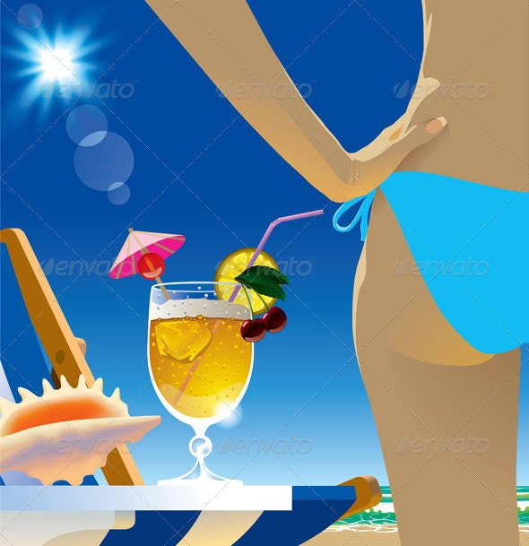 Beach Cocktail - People Characters