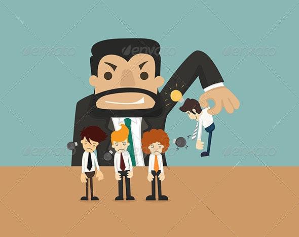 Businessman makes Idea - Concepts Business