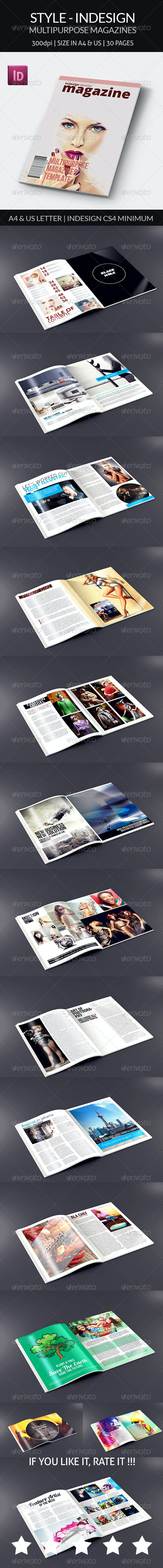 Style - Indesign Magazine Template - Magazines Print Templates