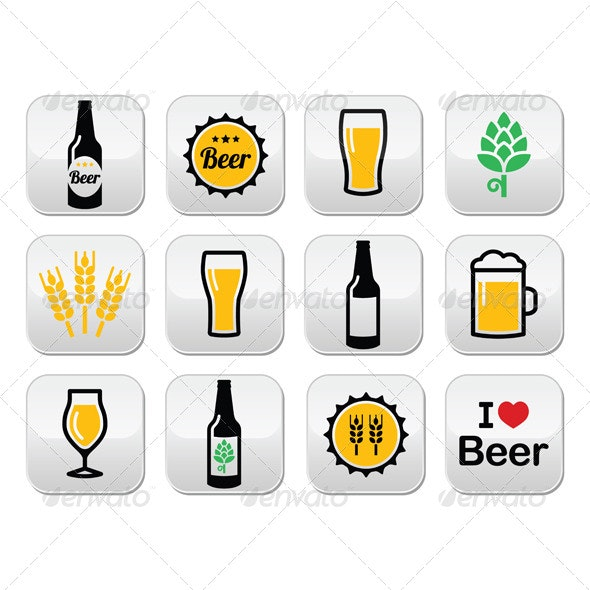Beer Buttons  - Food Objects