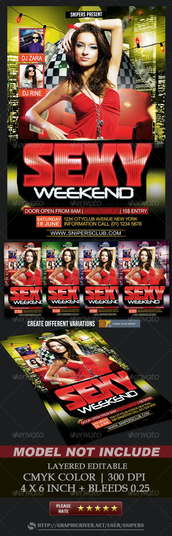 Sexy Weekend - Events Flyers