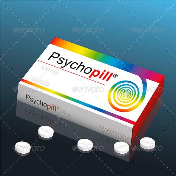 Psycho Pill - Health/Medicine Conceptual