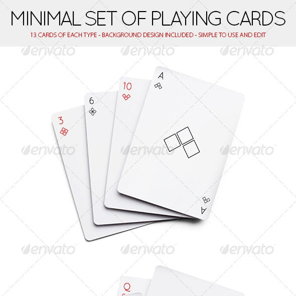 Minimal Set of 52 Playing Cards (Standard deck)